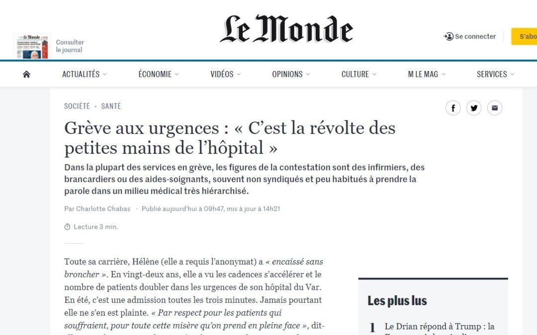 Nouvel article dans Le Monde