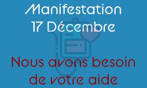 Manifestation 17 décembre appel aux dons