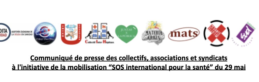 """Mobilisation """"SOS international pour la santé"""""""
